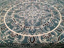 Society6 Mandala Starburst Teal & Blue, Floral, Love  - Wall Tapestry / Throw