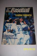 1986 Street and Smith KANSAS CITY ROYALS Saberhagen 170+ pages WORLD CHAMPIONS