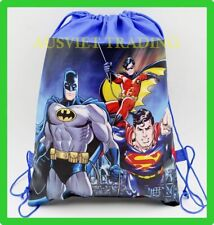 Brand new Superman Batman Library kids Swim Beach drawstring Bag new styles