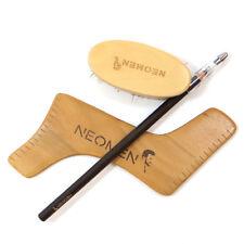 Kit 3in1 cura barba modellabarba legno spazzola matita NeoMen strumento rasatura