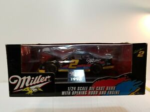 Racing Champions 1996 Miller Rusty Wallace 1/24 Scale Premier Die Cast Car Bank