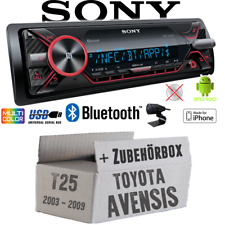 Sony Autoradio für Toyota Avensis T25 Bluetooth MP3/USB iPhone Android Einbauset
