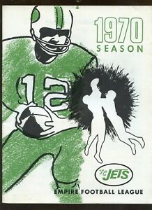 1970 Empire (New York State) Football League TC Jets Yearbook EX