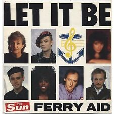 FERRY AID - Let it be - PAUL McCARTNEY KNOPFLER 45 RPM 1987 VG+ / VG+ CONDITION