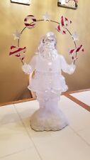 "Heritage mint 21"" Noel santa ice sculpture centerpiece"