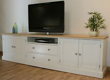 New Solid Pine 9FT Painted TV Stand/Unit/Cabinet In Any F&B Colour