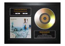 More details for radiohead signed gold disc album ltd edition framed picture memorabilia