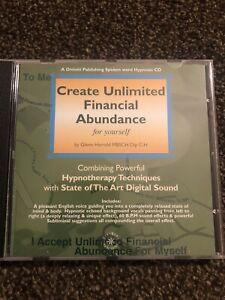 Create Unlimited Financial Abundance By Glenn Harrold Audio CD Selfhelp Hypnosis