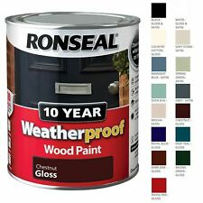 Ronseal 10 Year Exterior Weatherproof Wood Paint 2.5L Finish All colours