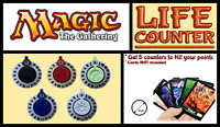Magic The Gathering Life Counters Bundle (Set of 5) for MTG Cards Game 3D 6cm