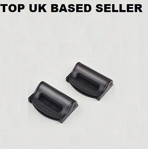BLACK BMW ADJUSTABLE SAFETY BELT STOPPER CLIP SEAT LUGGAGE PACK OF 2