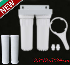Dual Whole House Water Filter Purifier with Carbon Block and Sediment Filters VP