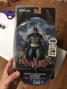 2010 SDCC Exclusive Batman Arkham Asylum Battle Damaged Figure DC Direct