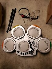 Claybrooke battery powered electronic drumset w/sticks and headset no bass pedal