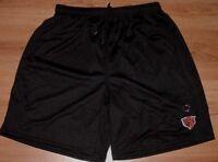 Chicago Bears Athletic Shorts Medium Embroidered Logo Black NFL