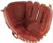 SEARS ball glove Vintage Right Hand Throw leather Roebuck & Co Red top grain 10""