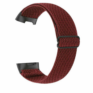 Nylon Loop Watch Strap Sport Band Full Screen Protector Case For Fitbit Charge 5
