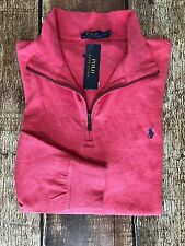 Polo Ralph Lauren Cotton-Blend Jersey Half Zip Pullover Sweater Rose Heather 2XB