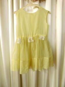 Vintage Girl's Yellow Chiffon Dress  size 6?