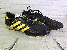 Adidas Mens Sz 12 Adinova II TRX FG Firm Ground Soccer Shoes Cleats Black Yellow
