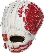 Rawlings Liberty Advanced 12'' Fastpitch Softball Glove RLA120-3S White Red Gold