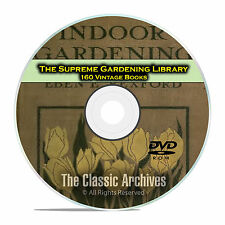 The Supreme Gardening Library, 160 Books, Landscaping Garden Plants Grow DVD E34