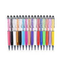 2in1 Stylus Crystal Ballpoint Pen Touch Screen Pen Made with Crystal Element OF