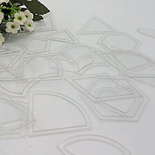 54pc Acrylic Quilt Quilting Template Ruler DIY Tool for Patchwork Craft Useful
