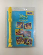 The Disney Collection Song Book W Instructions & Yellow Recorder Fast Shipping