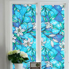 PVC Lily Static Window Film No glue removable Stained Glass Decal