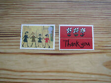 New Greetings in Art 1st class Stamp L S Lowry Painting Children playing GB UK