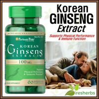 KOREAN GINSENG 100mg Mood Physical Performance Immunity Supplement 60 Capsules