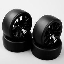 4PC 1/10 RC Speed Drift Racing Car Slick Tire & 10 Spoke Wheel For HSP HPI C12NK