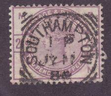 "Great Britain Sc #101 Sg #190 Used 1884 2½p Lilac Qv ""Nice Southampton Cdc"""