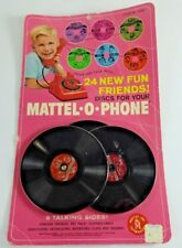Vintage - 1967 Mattel O Phone Discs Records New NIP Sealed 6 Talking Sides