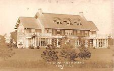 c.1910 RPPC Tracy H. Harris Home Hewlett LI NY