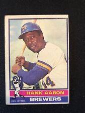 1976 Topps Hank Aaron #550 VG Atlanta Braves *24