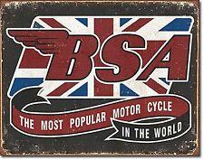 BSA die die Beliebtesten Motorrad in The World Metall Schild 420mm x 310mm (De)