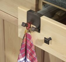 Cabinet Twin Hook Rack Drawers Holder Towel Kitchen Hanging Organizer Storage