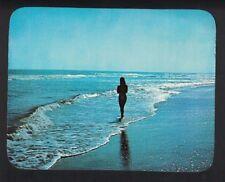 Woman Walking on the Beach Destin Florida Vintage Postcard