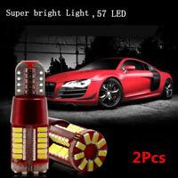2Pcs T10-3014-57SMD Bright LED Canbus Error Free Car Wedge Light Bulb Lamp New