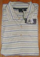 NWT Boss Men's Polo Golf Shirt Short Sleeve Knit Striped XL
