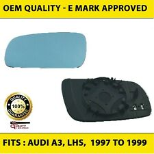 Door Wing Mirror Audi A3 1997 - 1999 Replacement blue tinted Heated,Left Side,