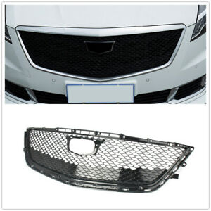 Front Mesh Radiator Grill Upper Grille For 2016 2017 2018 Cadillac CT6 Black ABS