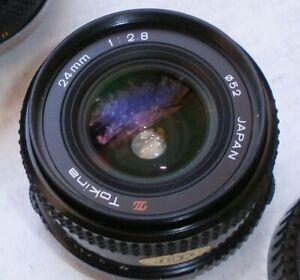 Tokina Olympus OM Mount 24mm f2.8 Wide-angle Lens OM-1 OM-2 OM-4 OM-10 OMG Ex+