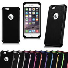 5 x Shockproof Rugged Hybrid Rubber Hard Cover Dual Layer silicon iPhone 6 6s