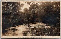 Norwich NY River Ravine Vintage RPPC Real Photo Postcard C4