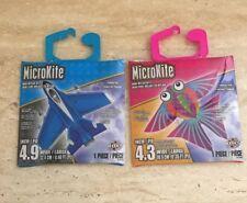 MicroKite Mini Mylar Kite Planes And Tropical Fish Lot of 2 New