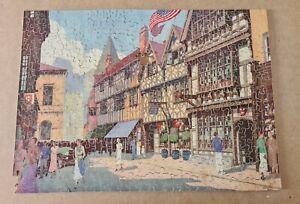 Vintage GWR 400 Piece Wooden Jigsaw Puzzle - 'Harvard House' Stratford upon Avon