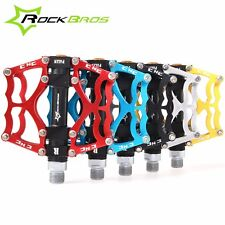 RockBros Mountain Bike Pedals Aluminum Alloy  MTB Sealed Bearing Pedals 9/16 in